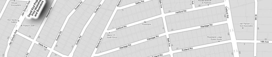 Map to David Krut Projects, Johannesburg