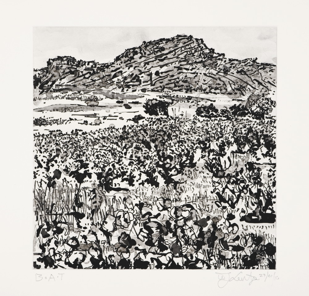 Kentridge- Untitled (Skurfberg)- Etching- 2010- LR