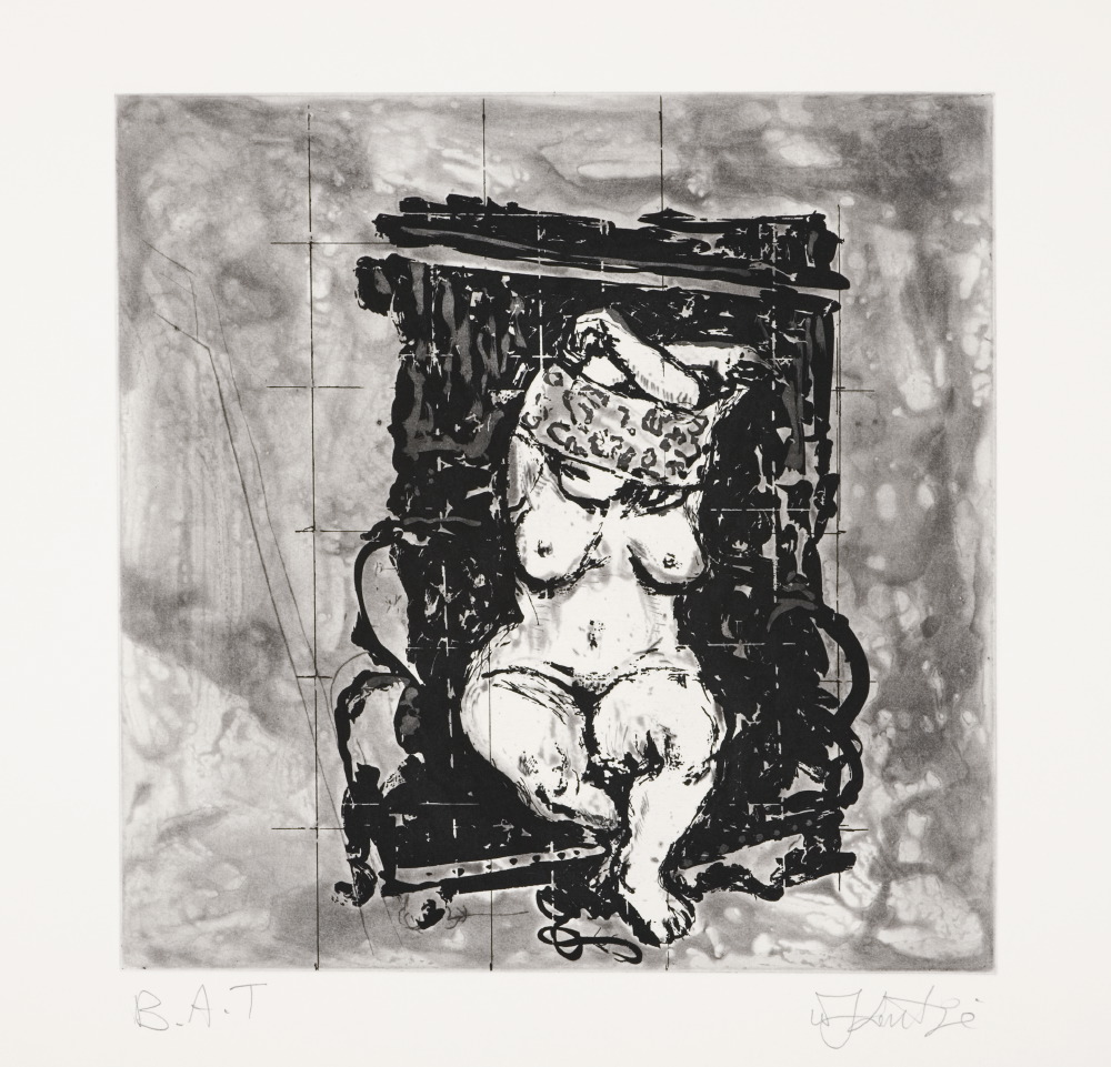 Kentridge- untitled (black Chair)- Etching- 2010-LR