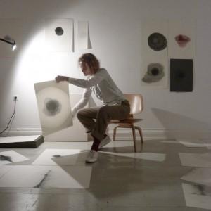 Alexandra Ross in her studio, Berlin, 2010