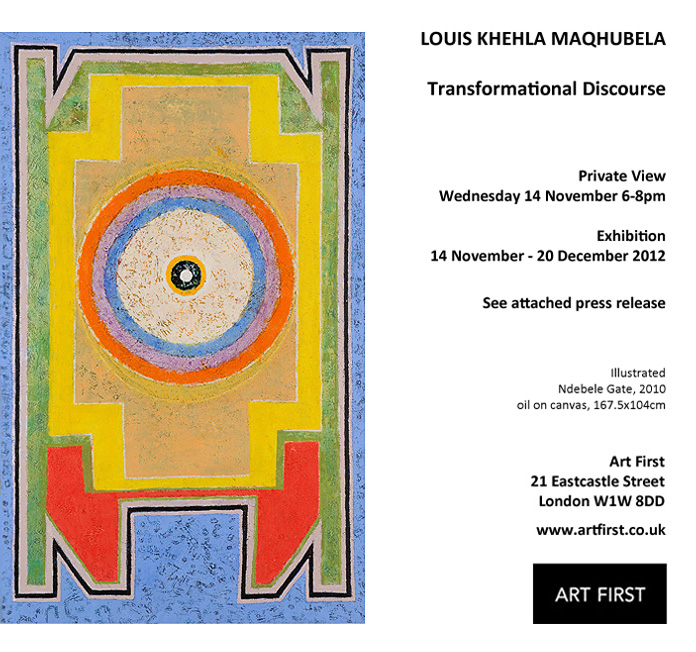 Louis Maqhubela – Transformational Discourse: New Paintings 2010 – 2012, 14 November – 20 December, LONDON