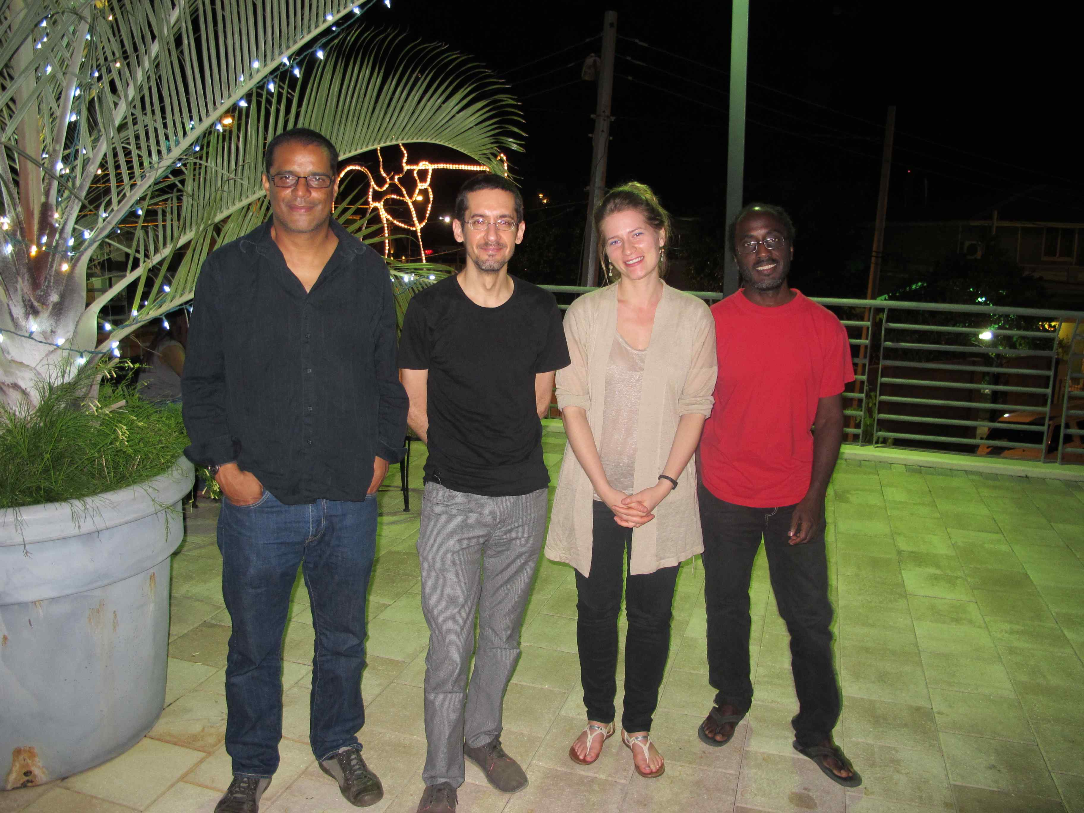 From left: Cozier, Nicholas Laughlin, Hannah Dumes and Sean Leonard