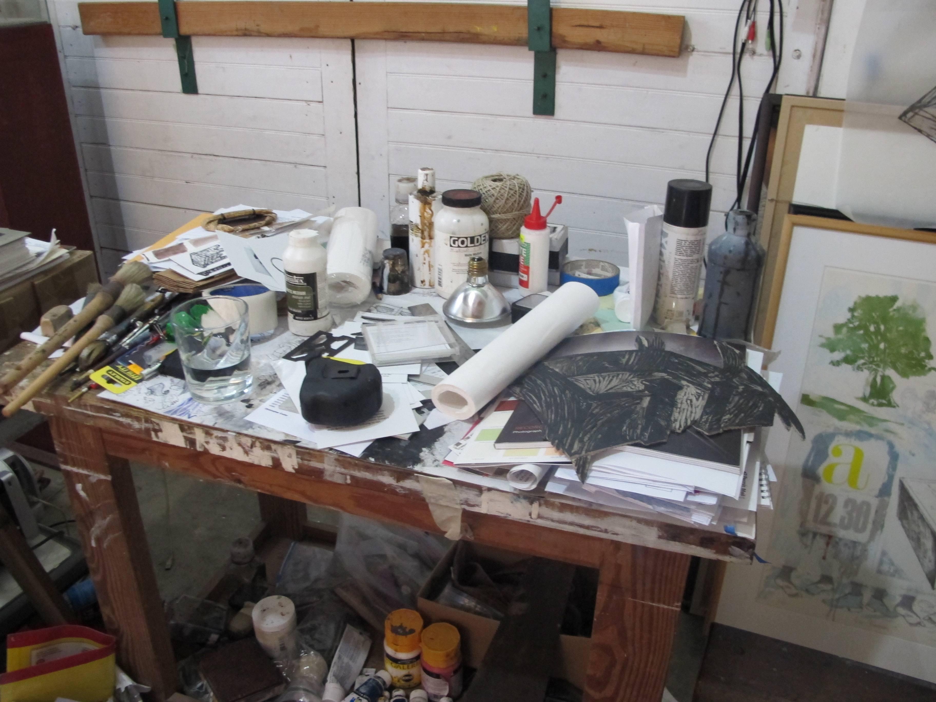 Cozier's studio