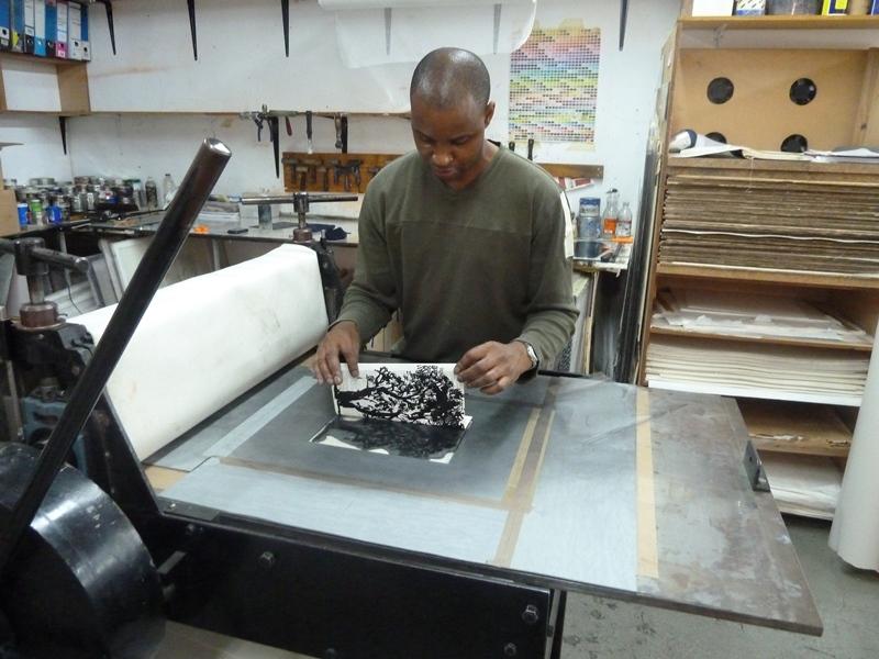 Universal Archive editioning at David Krut Print Workshop, Parkwood