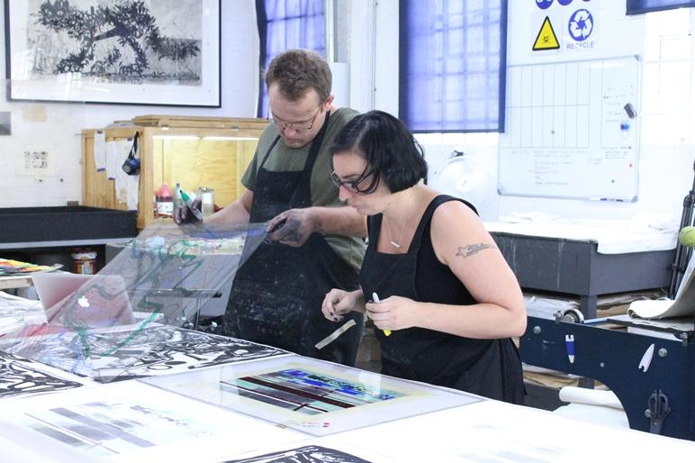 Mary Wafer and Quinten Williams at David Krut Print Workshop, Arts on Main