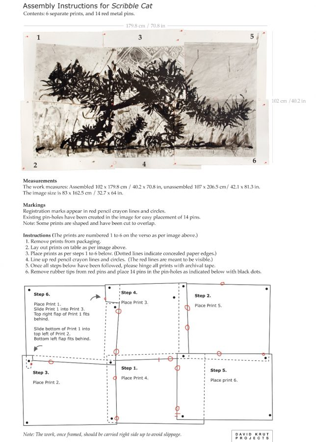 """Assembly Instruction for William Kentridge's """"Scribble Cat"""""""