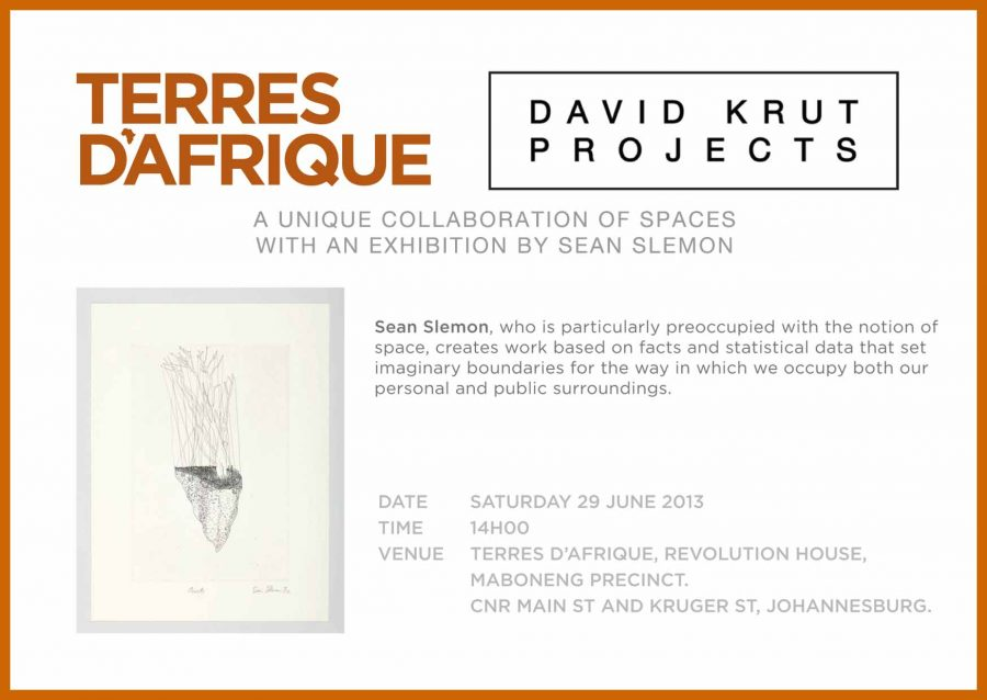Sean Slemon exhibits at Terres D'Afrique