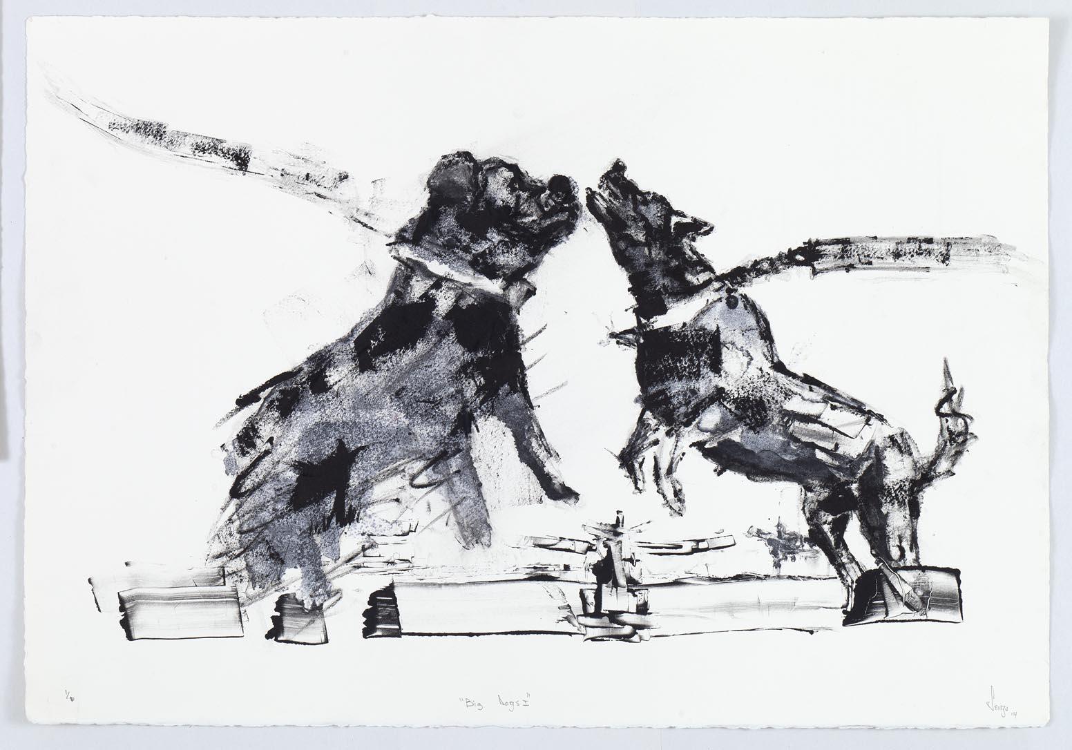 Shabangu - Big Dogs I 2014 - Monotype - LR