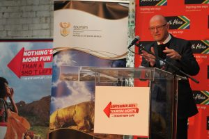 Honourable Minister of Tourism, Mr. Derek Hanekom