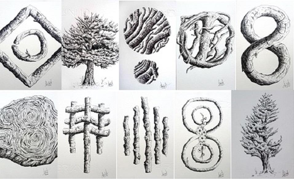 Gawie Joubert - Ink drawings