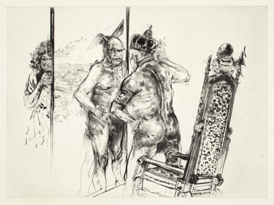 The Emperor's New Residence, 2014 - Diane Victor - Drypoint
