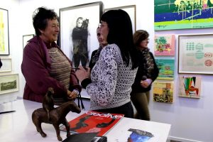 Mary Wafer in conversation with TAF visitors