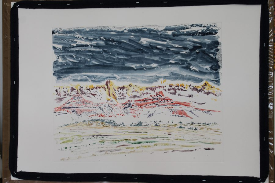 Drakensburg (C2J1509), 2015 40 x 60 cm Watercolor monotype