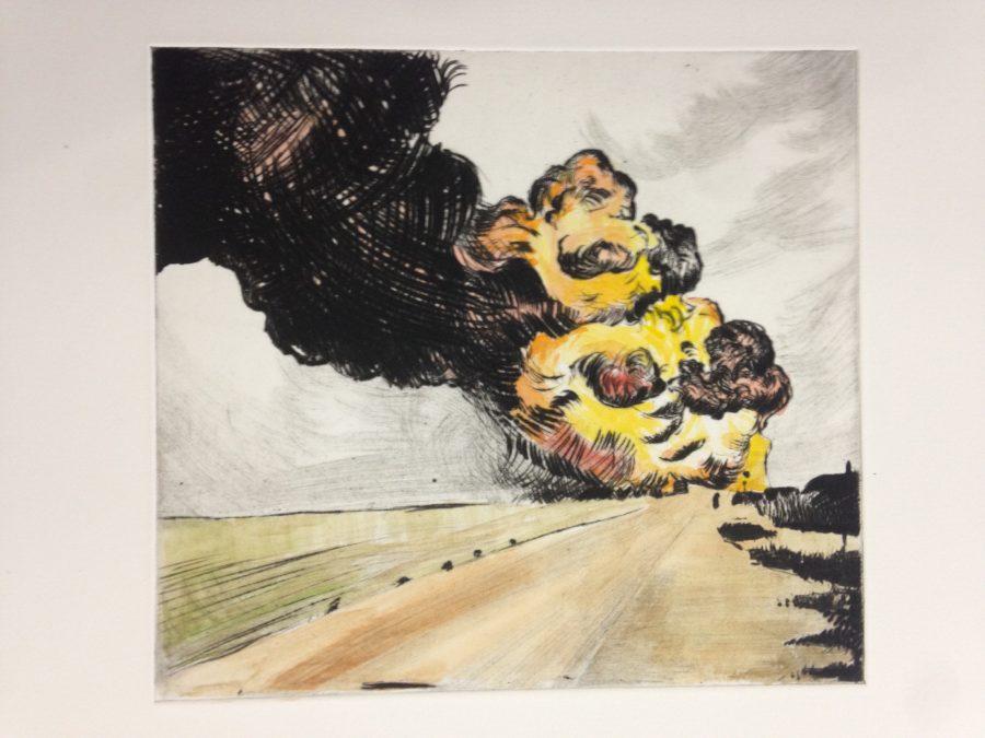 The Distant Clouds (Colour), 2016, drypoint, 20x21.7 cm, R1750