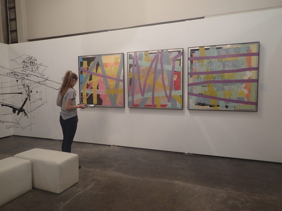On display: Jacob van Schalkwyk, Allsorts, Sea Point Window, Woodstock Window, 2013-2016, lithographic ink on walnut oil on aluminium, unique work.