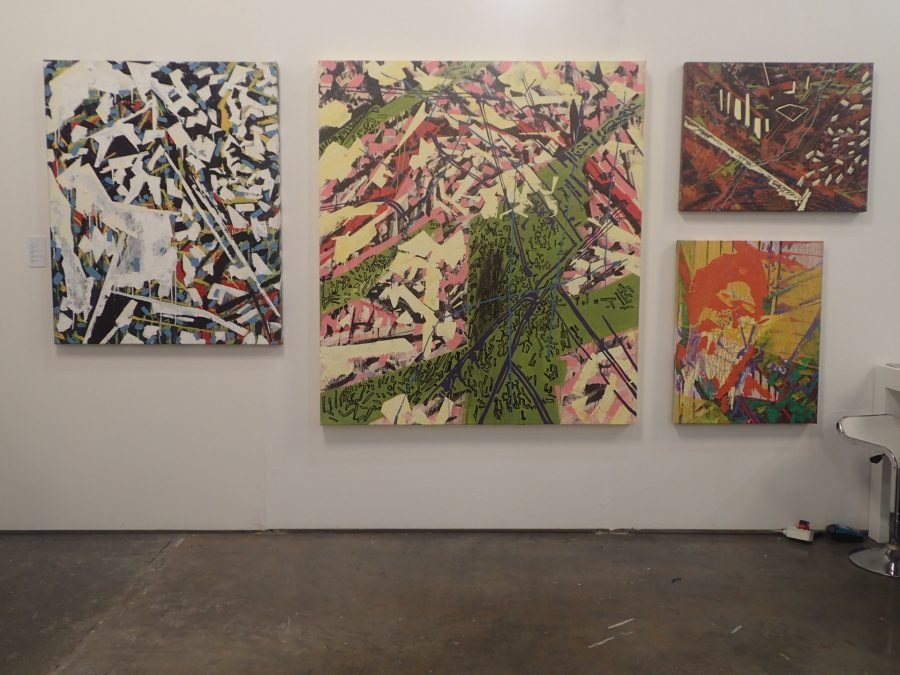 At out paintings booth, we had a wall dedicated to a series of new paintings by Quinten Edward Williams' new paintings, titled To break in upon