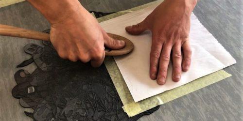 Chad Demo Hand printing