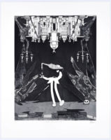 Artist Chad Cordeiro, Under the infirmary, hardgroud, stepbite aquatint etching with drypoint and chine colle, Black and White