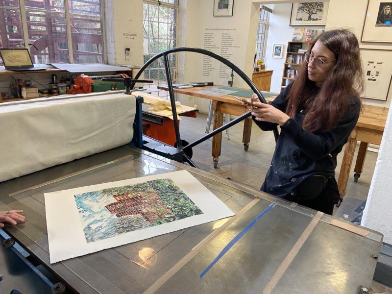 Adele van Heerden artist in residence David Krut workshop