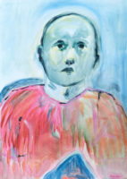 Olivia Botha, Autumn Moon, 2021, Oil on paper